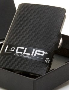 Cartera tarjetero I-Clip Carbon Negro
